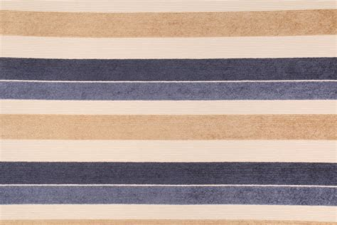 Upholstery Chenille Fabric by 7 5 Yards Chenille Stripe Upholstery Fabric In Cobalt