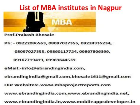 Mba Colleges In Nagpur by List Of Mba Institutes In Nagpur