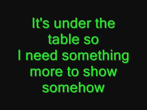 Under The Table Lyrics Vertical Horizon You Re A God Everything You Want