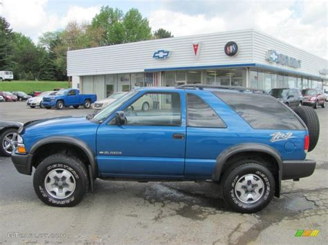 2001 chevrolet blazer ls 2001 space blue metallic chevrolet blazer ls zr2 4x4