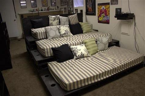 sofa movie theater build a movie theater sofa from pallets diy projects for