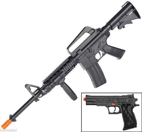 Combo Pack Goon M 15 Size M airsoft sniper rifle ar black handgun pistol 6mm bb gun