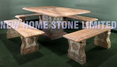 stone table and benches how to make a stone table with benches square marble