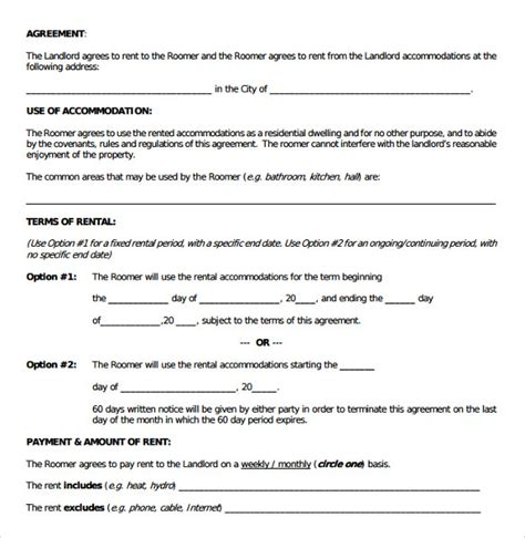 room rental agreement template room rental agreement 17 free documents in pdf