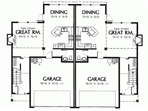 2 story duplex floor plans duplex two story house plans home design and style
