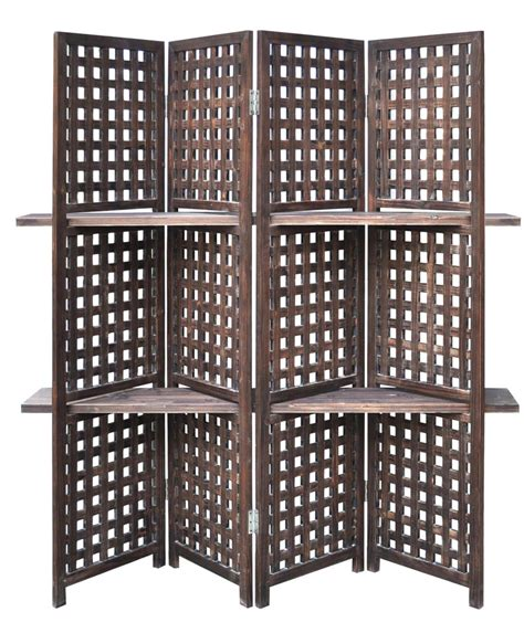Screen Room With Floor by New 70 Quot Aged Wood Four Panel Floor Screen Room