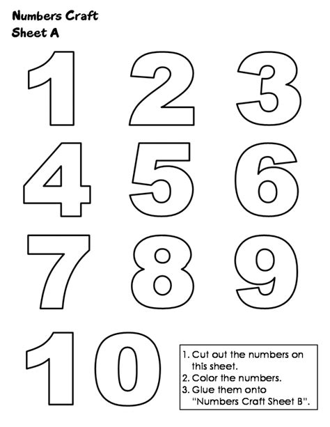 free coloring pages numbers 1 10 jigsaw craft sheet a print numbers to color and print 101