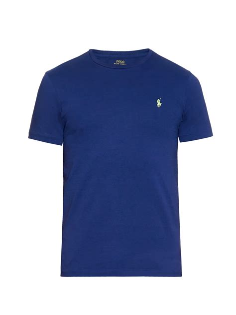 pemborong tshirt polo ralph lauren polo ralph lauren crew neck t shirt in blue for men lyst