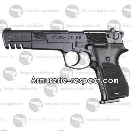 pistolet walther cp competition  plombs noir