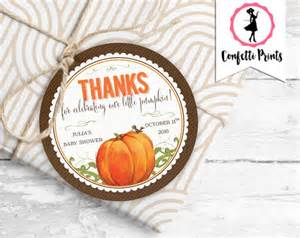 Pumpkin Favors by Pumpkin Baby Shower Favor Tag Thank By