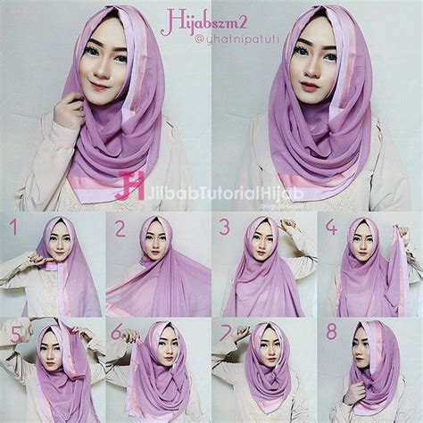 5 tutorial hijab segi empat simple tapi mewah dan elegant 36 best hijab tutorial tutorial hijab modern images on