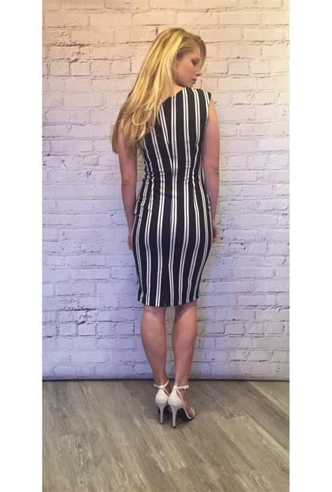 Dress Vb rinascimento vb stripe dress navy rinascimento from ruby room uk
