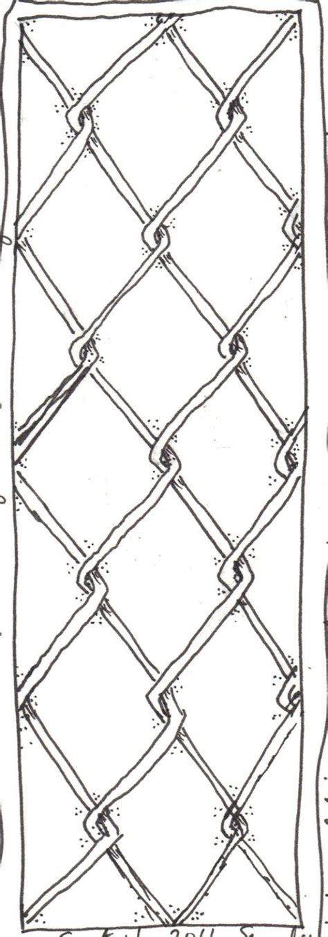 harder   thought  draw  chain link fence
