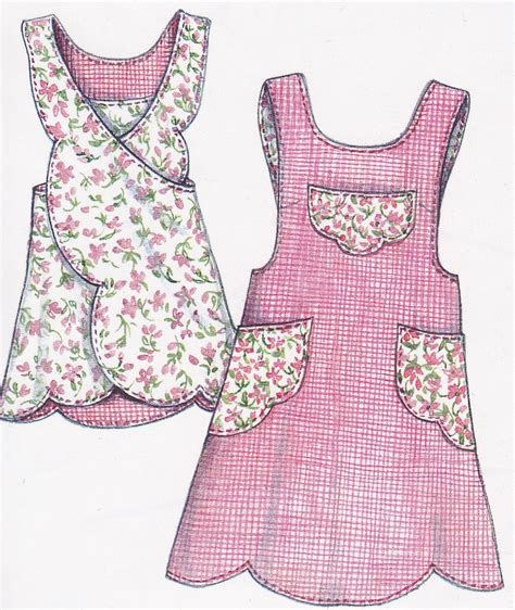 pattern apron paisley pincushion apron sewing pattern scalloped apron