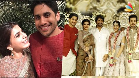 actress amala and nagarjuna wedding photos naga chaitanya samantha at nagarjuna amala s son akhil