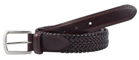 mens leather tubular stretch 1 1 4 inch belt by dockers
