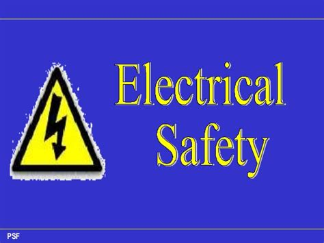 Electrical Safety 1 electrical safety pdk