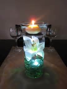 Centerpieces With Candles Wodnerful Diy Unique Floating Candle Centerpiece With Flower