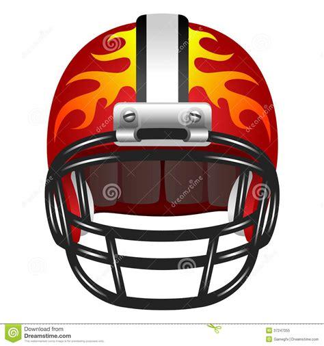 fire helmet design history football helmet with fire stock illustration illustration