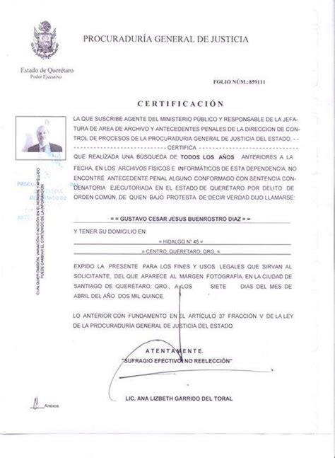 domicilio para carta antecedentes no penales cdmx c 237 rculo noticias quer 233 taro on twitter quot env 237 a gus
