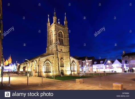 cathedral city christmas lights lights decorations st johns church cathedral square stock photo royalty free