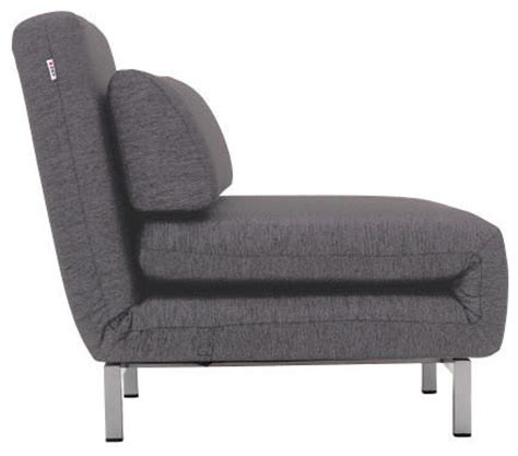 chair with bed sleeper shop houzz ido convertible charcoal gray fabric chair