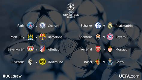 Calendario De La Uefa Chions League 2015 Uefa Chions League 2014 15 Draws And Fixtures
