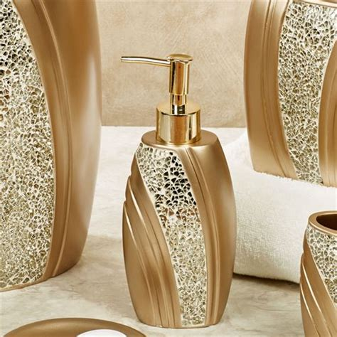 gold bathroom sets glamour mosaic chagne gold bath accessories