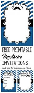Free Mustache Baby Shower Invitation Templates by Mustache Baby Shower Or Birthday Invite Paper