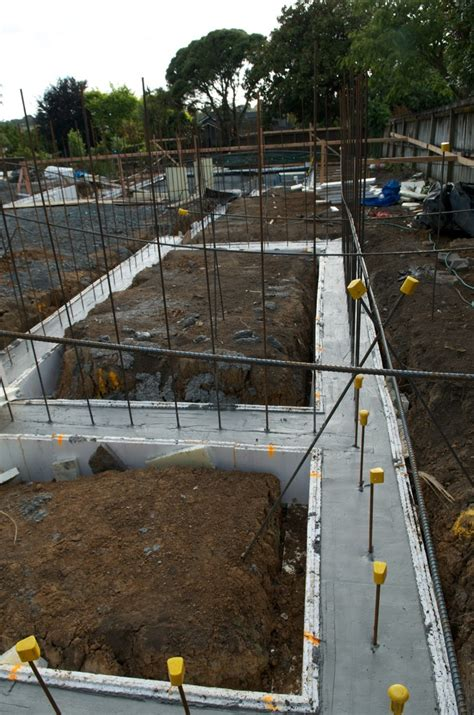 poured concrete house pouring of the concrete for the footings the new zealand