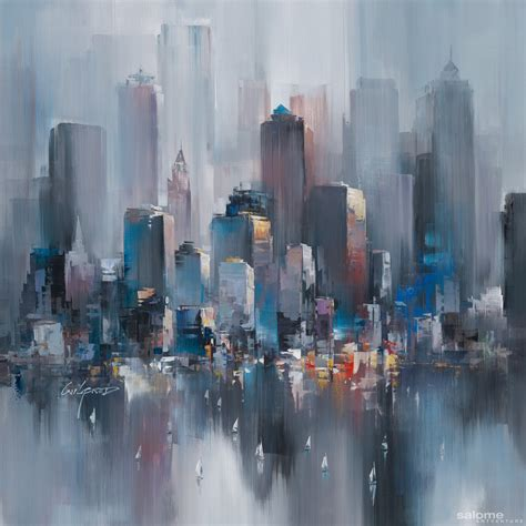 new painting artwork new york heights 0017 wilfred lang