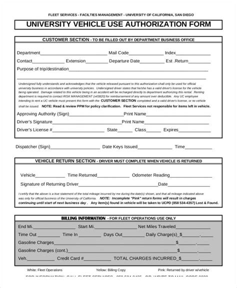 authorization letter vehicle registration vehicle authorization forms 16 free documents in word pdf