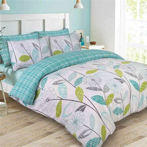 king duvet on bed dreamscene duvet cover with pillowcase polycotton bedding