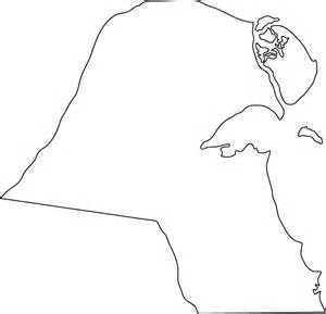 Outline Picture Of A by Outline Map Of Kuwait