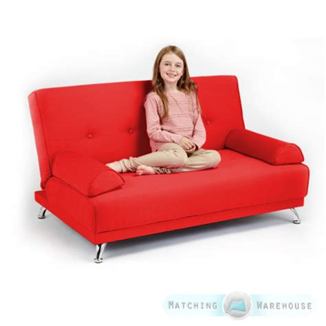 kids sofa bed uk childrens cotton twill clic clac sofa bed with armrests