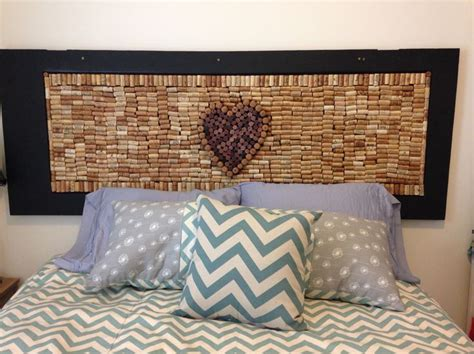cork board headboard wine cork headboard and hand sewn pillows crafting with
