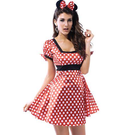 mickey polka dress polka dot mickey sleeved dress costumes uniforms on