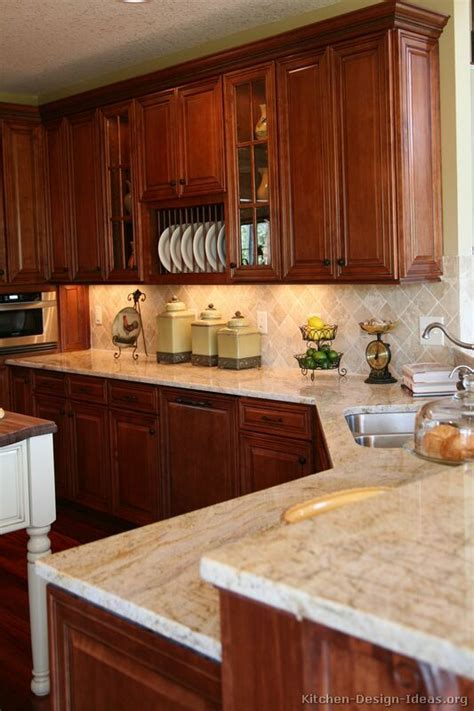 Kitchen Colors Medium Wood Cabinets 25 Best Ideas About Cherry Kitchen Cabinets On