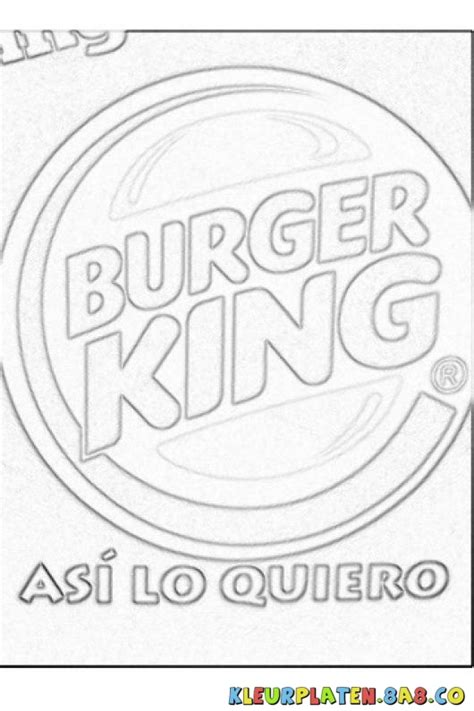 Burger King Coloring Pages | burger king logo coloring pages sketch coloring page