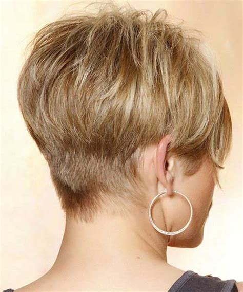 very short stacked pixie for over 50 pixie haircut back view the best short hairstyles for