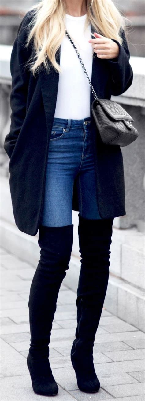 25 best ideas about black boots outfit on pinterest
