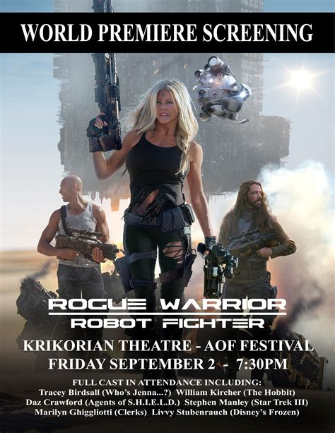 film with rogue robot rogue warrior robot fighter to premiere at aof september