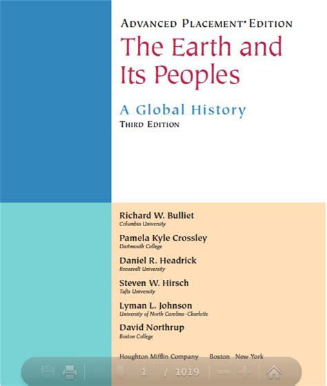the earth and its peoples a global history books ap world history the earth and its third edition