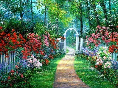 Secret Garden Fantasy Abstract Background Wallpapers Secret Garden Flowers