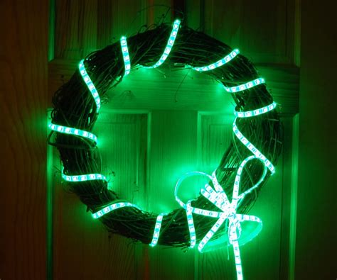 holi lights programmable multi holiday wreath