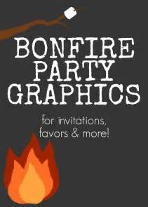 Bug Free Backyard Bonfire Party Graphics For Invitations Favors And More