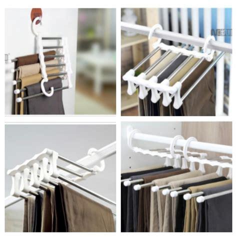 Rak Jilbab Gantungan Jilbab Hanger jual gantungan celana magic trousers rack rak hanger