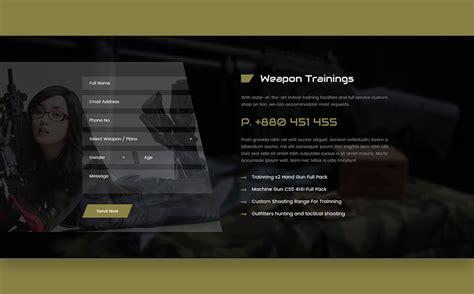 Gun Shop Html Template Website Template 68663 Gun Shop Website Template