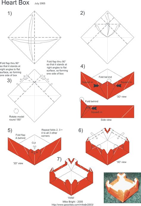 Origami Box Directions - origami best images about origami food on sushi origami