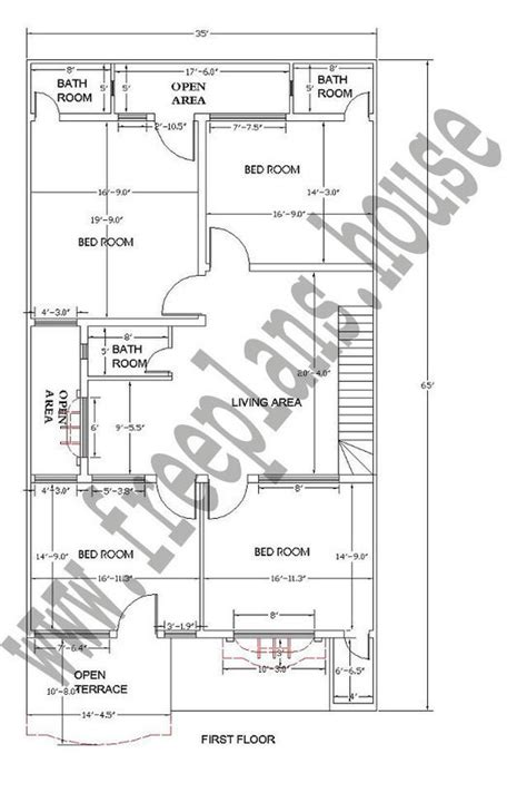 35 meters in feet 35 215 65 feet 211 square meters house plan